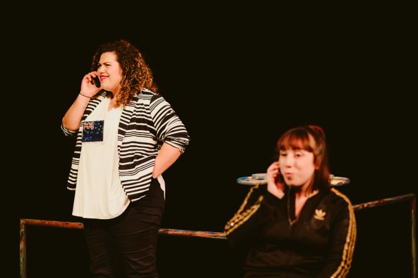 Sharni McDermott and Nadia Rossi on stage for Sista Girl ©Kate Pardey (3)