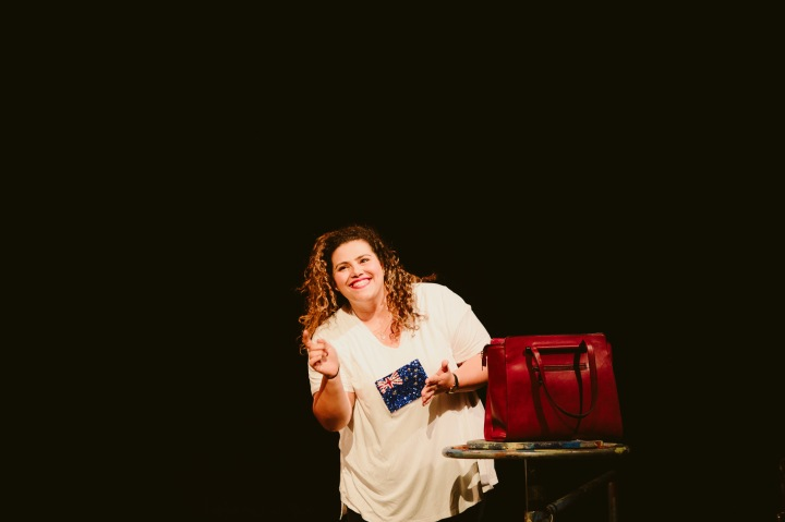 Sharni McDermott on stage for Sista Girl ©Kate Pardey