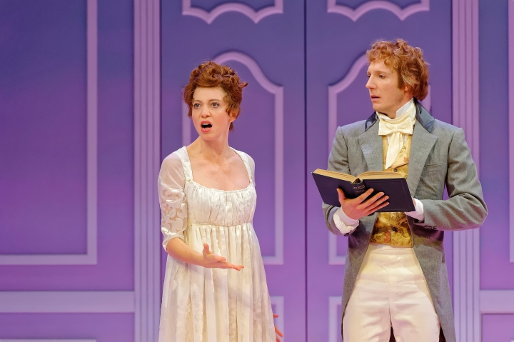 Miranda Daughtry as Marianne Dashwood and Nathan O'Keefe as Edward Ferrars