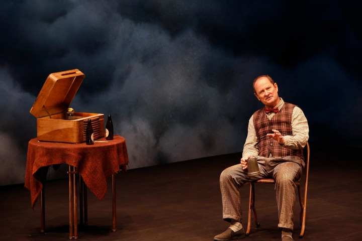Paul Blackwell as Teddy in Faith Healer. Photo by Jeff Busby
